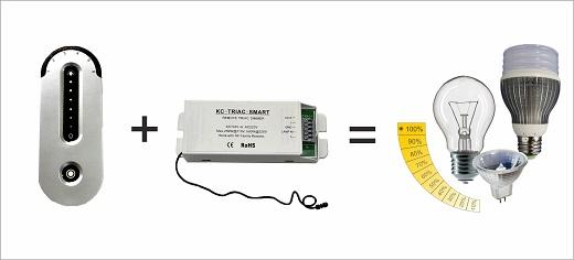 Диммер для светодиодной ленты Triac панель на фото