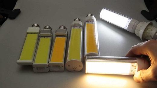 Светодиодные лампы Cob на фото