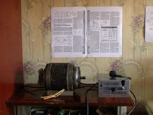 На фото самодельный частотный преобразователь для асинхронного двигателя