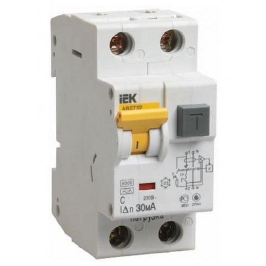 На снимке автоматический выключатель дифференциального тока АВДТ 32