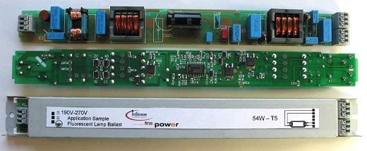 Интегральные контроллеры балластов люминесцентных ламп на фотографии