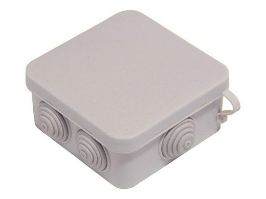 На фото коробка распределительная 80х80х40мм для наружного монтажа ip55