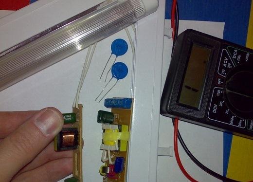 Ремонт электронного балласта на фото
