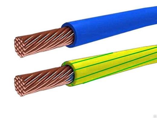 Сечение кабеля на фото