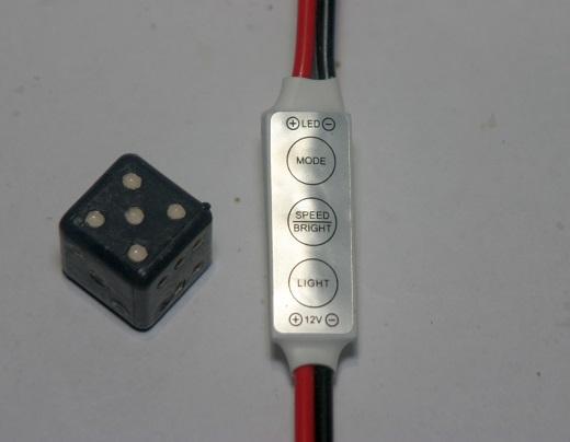 На снимке диммер для светодиодных ламп 12 вольт