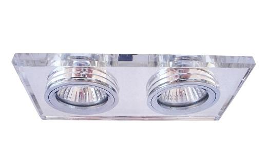 На фото представлен двойной точечный светильник