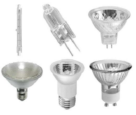 Галогеновые лампы на фото