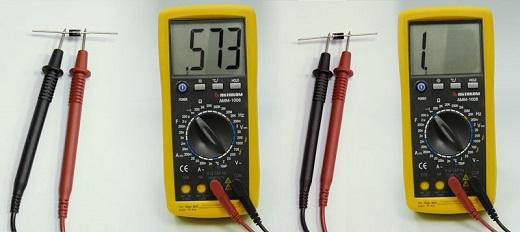 Пример проверки диода мультиметром