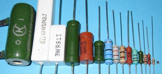 На снимке различные виды резисторов