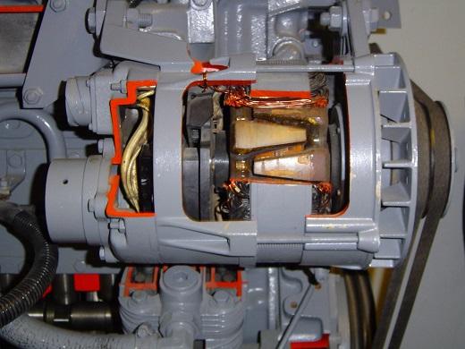 Трехфазный двигатель на фото