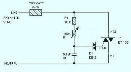 Регулятор мощности на симисторе для индуктивной нагрузки на схеме