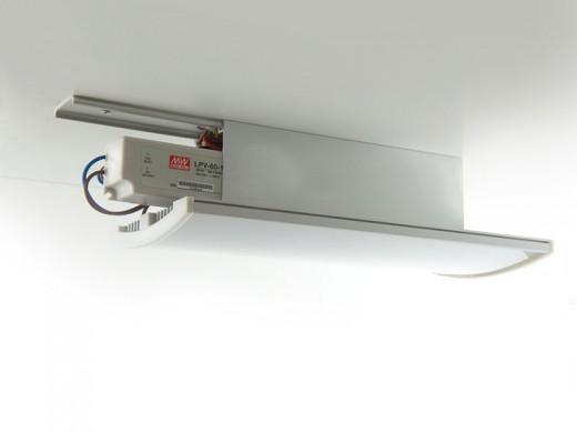 Блок питания для светодиодной ленты замаскирован под современный светильник в специальном корпусе