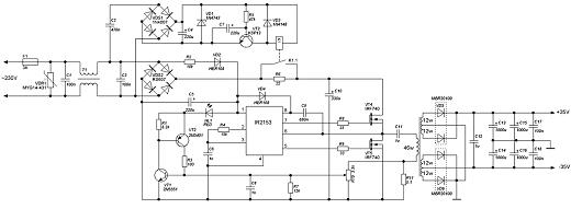 Схема ИБП на IR2153