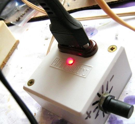 Симисторный регулятор мощности для паяльника на фото