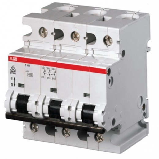 ABB автоматический выключатель на фотографии
