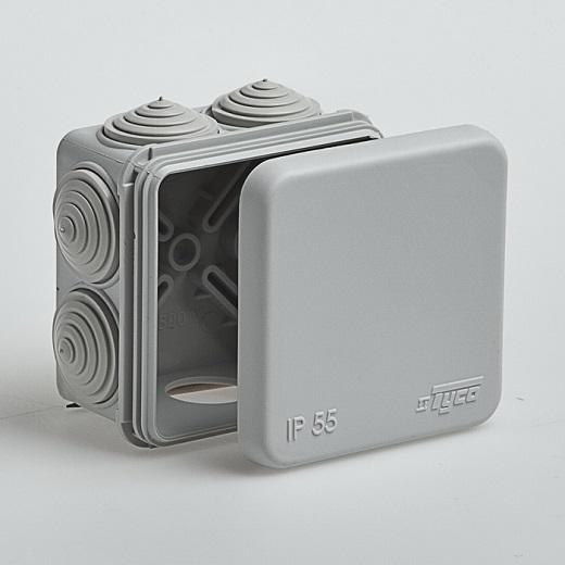 Коробка распределительная 100х100х50мм для наружного монтажа ip55 на фото