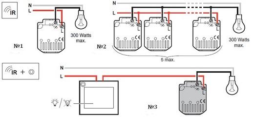 Схема подключения датчика движения для включения света на фото
