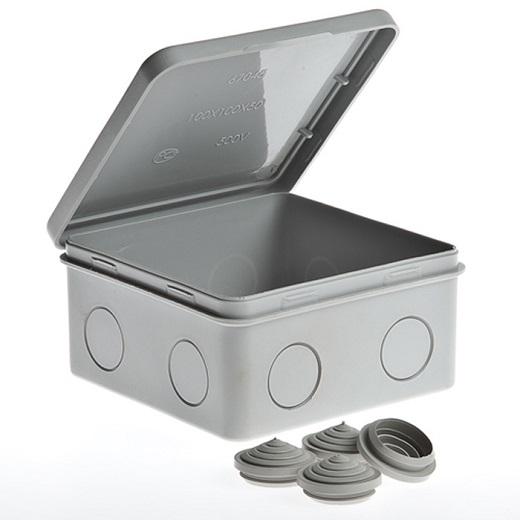 Tyco коробка распределительная 100х100х50 ip54 на снимке
