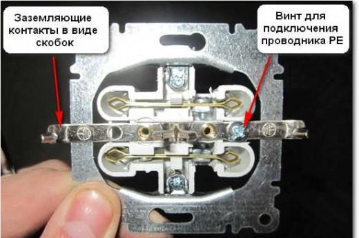 На снимке схематично показано, как крепить провода